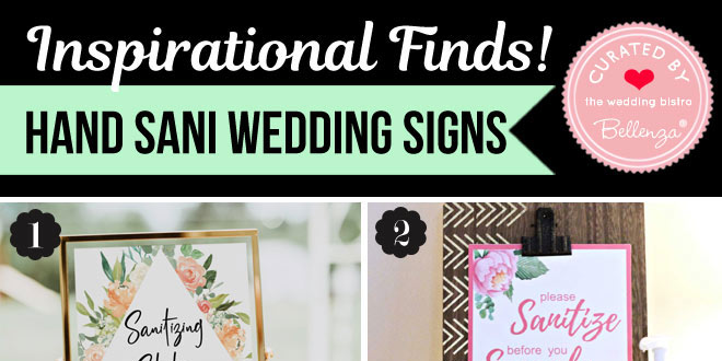 Simple Hand Sanitizing Signs for a Sanitizer Wedding Station