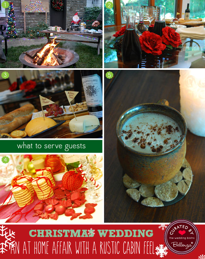 Food, drinks, games and favor ideas for December weddings