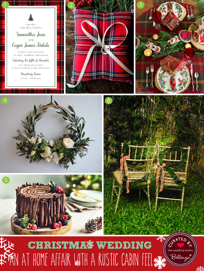 Basics for a Christmas Winter Cabin Wedding
