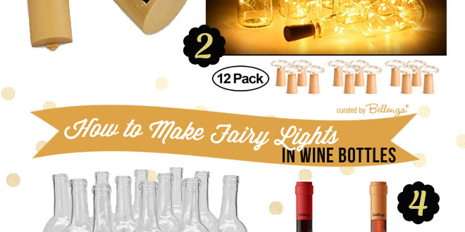 How to Make Your Own Wine Bottle with Fairy Lights as Wedding Decorations