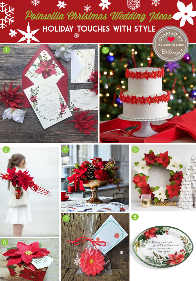 Poinsettia Christmas Wedding Inspiration Board