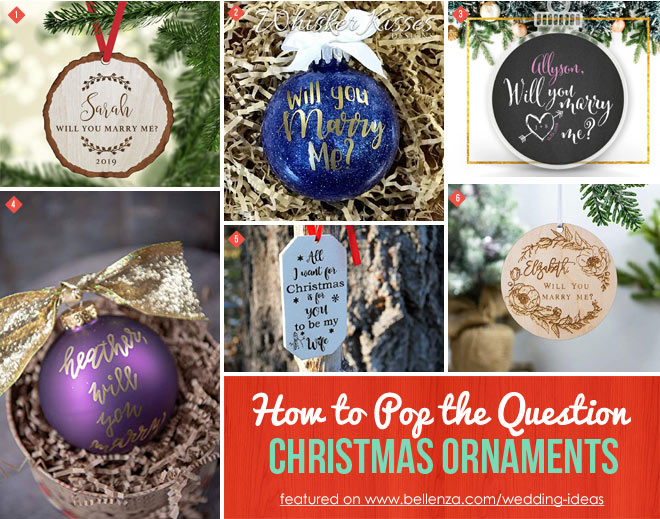 Christmas Ornaments to Pop the Question