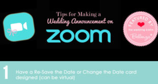 ZOOM wedding announcement