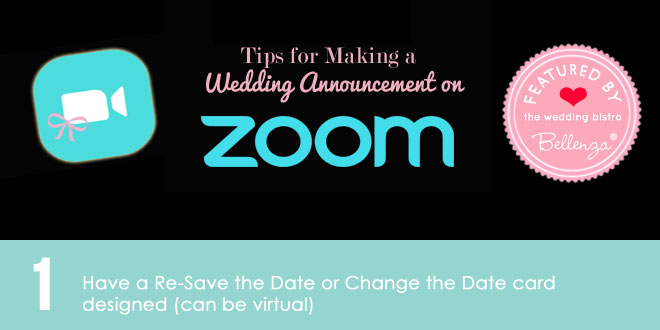 ZOOM wedding announcement