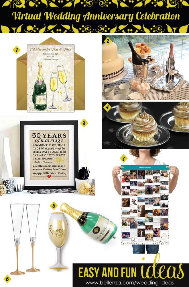 Elegant Virtual Wedding Anniversary Ideas