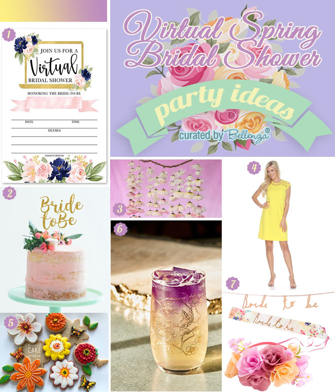Virtual Spring Bridal Shower with Florals
