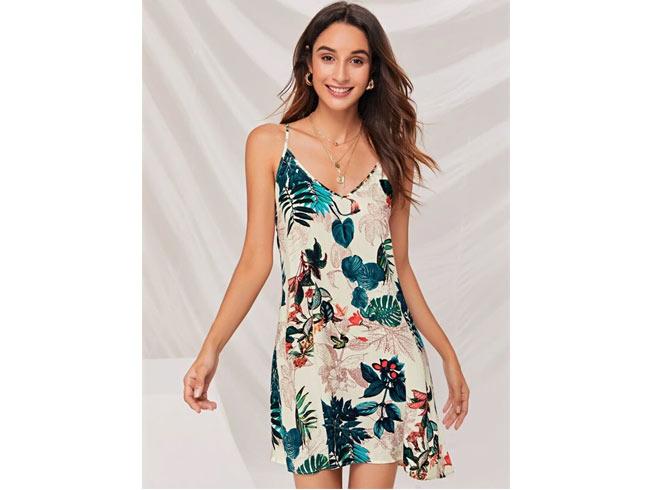 Camisole-style mini dress