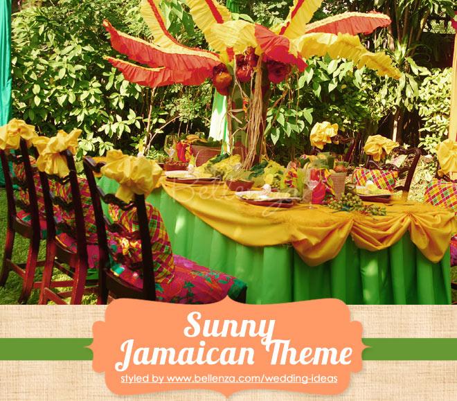 Small Jamaican outdoor wedding in backyard