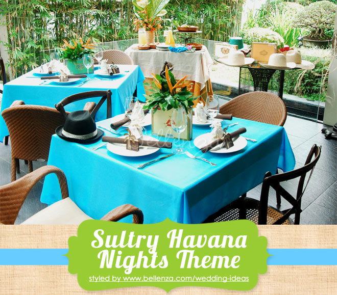 Havana Nights wedding reception for a small party