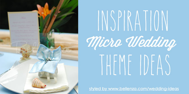 Micro wedding themes for a small outdoor celebrations