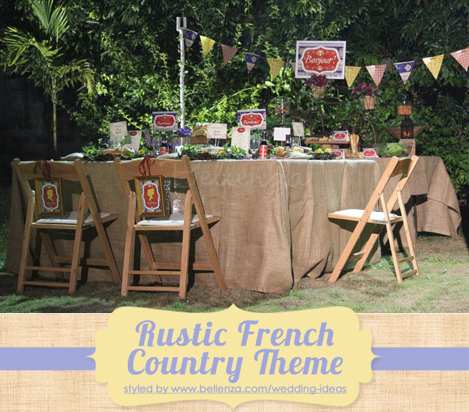 Rustic French country wedding theme for a micro gathering