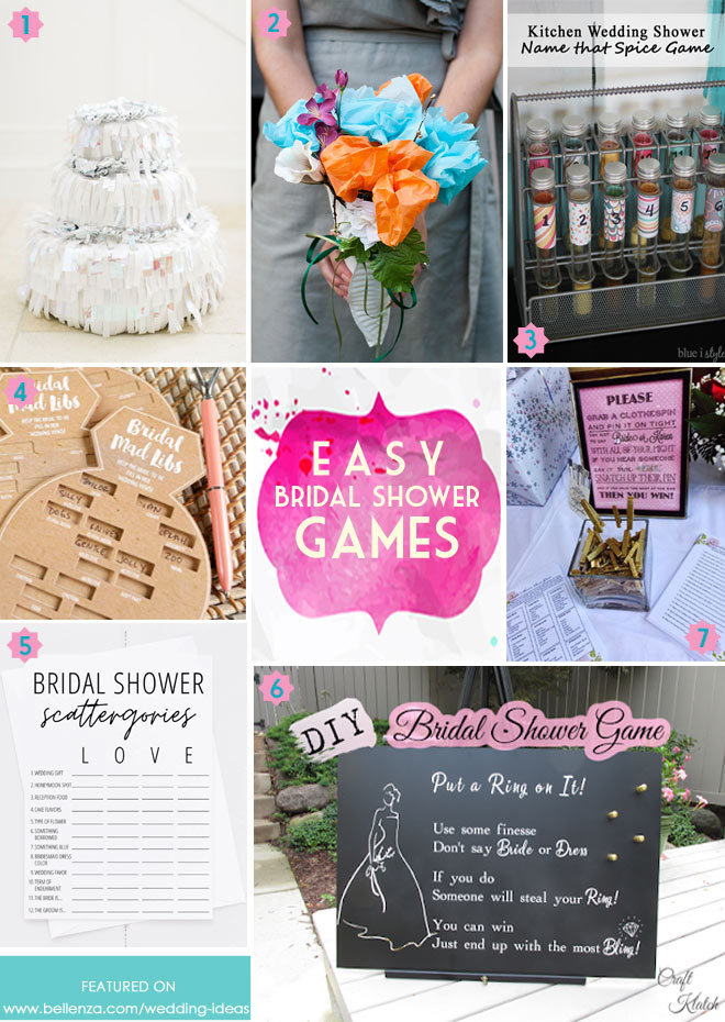 Easy games to play for a bridal shower.