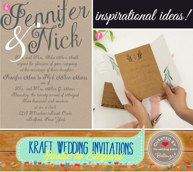 Rustic Kraft Wedding Invites