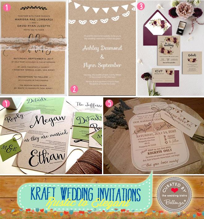 Kraft-style Wedding Invitations
