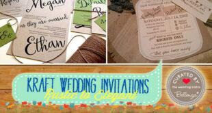 Kraft Paper Wedding Invitations that are Budget-Friendly