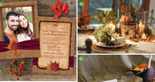 Family focused fall wedding reception ideas