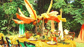 How-to: Make a Coconut Tree Centerpiece for a Tropical Party