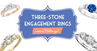 three stone forever engagement rings curated by Bellenza.