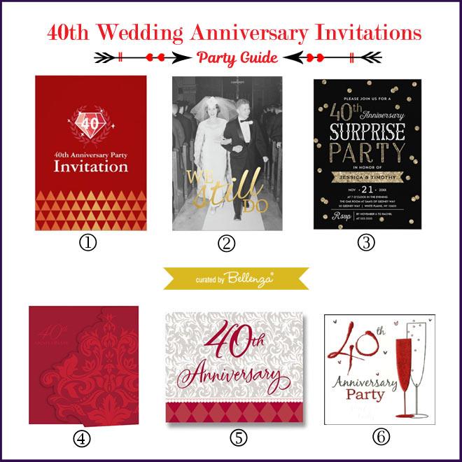 40th Anniversary Invitations // Curated by Bellenza.
