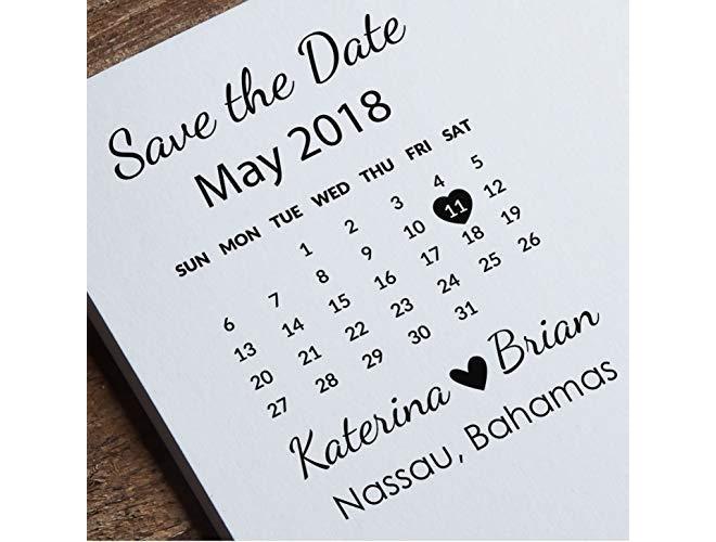 Calendar Custom Save the Date
