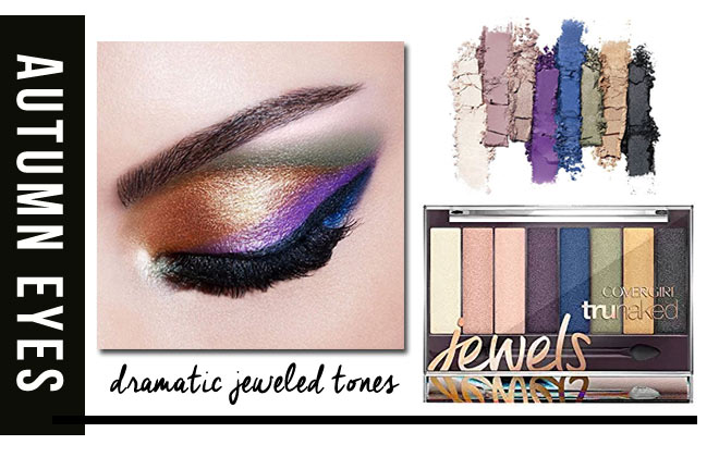 Jeweled tones eye shadow palette for fall.