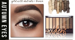 Golden palette for fall eyes.