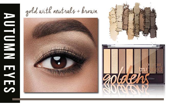 Golden palette for fall eyes.