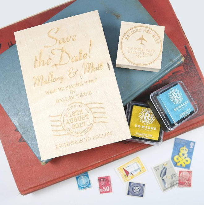 Postmark Save the Date Stamp - from Rubber Stamps.com