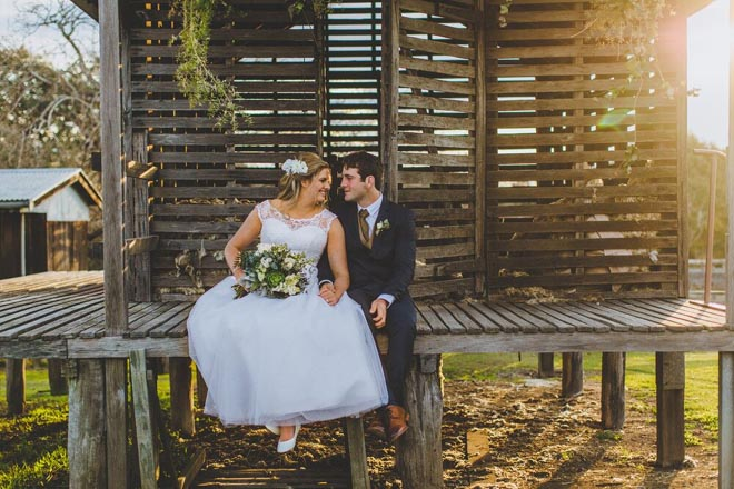 Image provided by Bwedding Invitations. Intimate shot in Belgenny Farm.