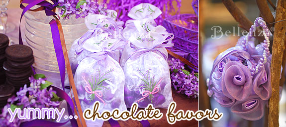 Elegant Sachets for Chocolate Favors