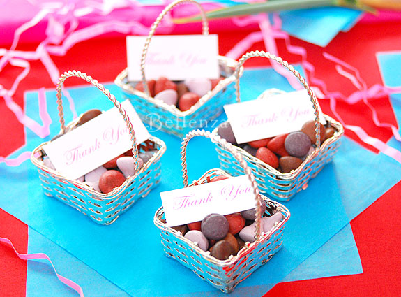 candy silver baskets