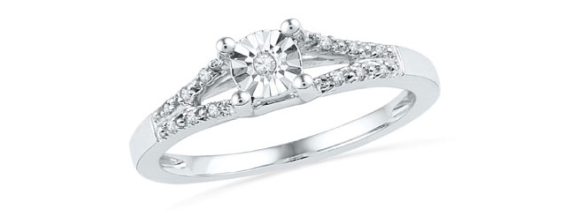 Diamond Accent Split Shank  Ring from Zales