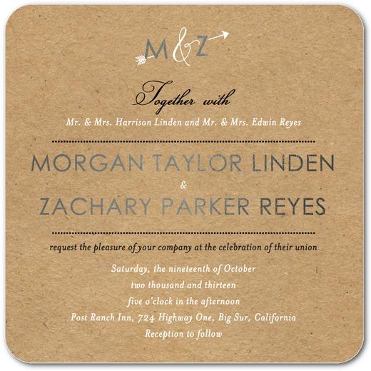 Kraft Arrow Wedding Invitations