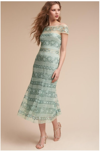Jade green Lora dress from BHLDN // curated by Bellenza.