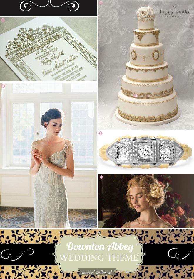 Downton Abbey Themed Wedding