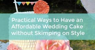 Affordable wedding cake ideas
