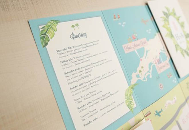 Wedding Itinerary + Custom Map + More in One