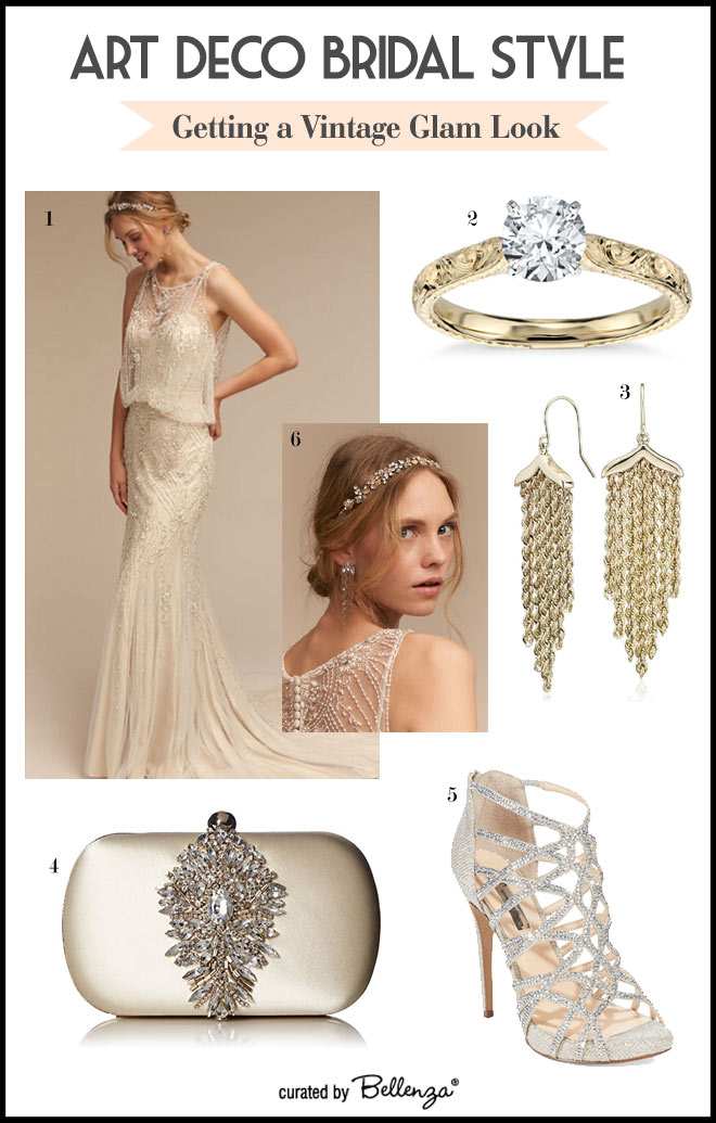 Glam vintage Art Deco Style Board