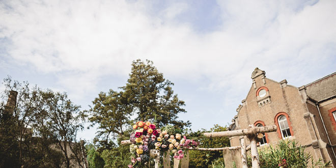 Ashleigh and Adam's Colorful, Rustic-style Wedding