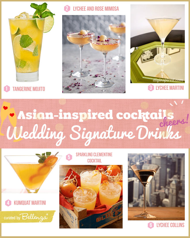 Asian-inspired signature cocktail ideas