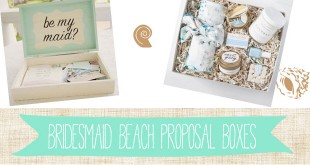 What to Use as Fillers for a Beach-themed Bridesmaid Proposal Box