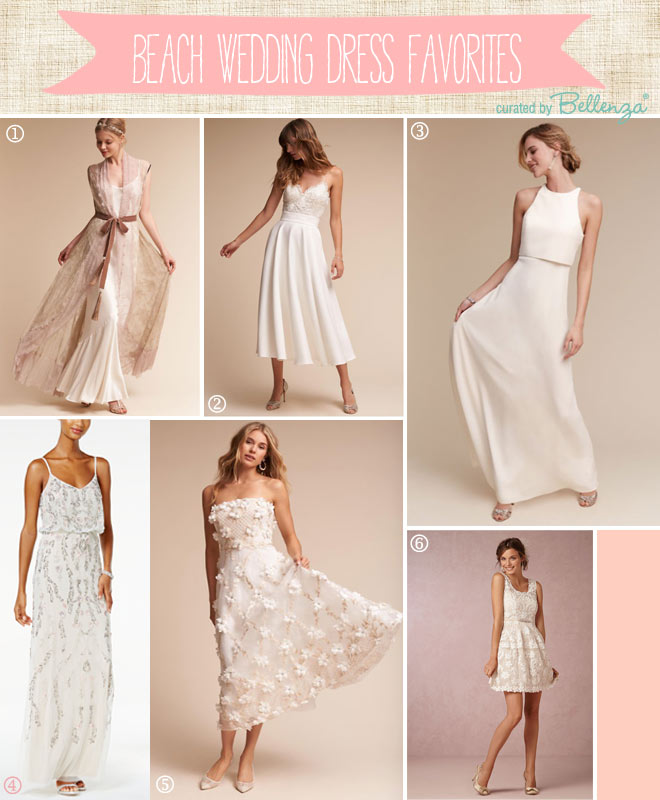 Editor's Picks for Beach Wedding Dresses from Crop Skirt to Short Length.