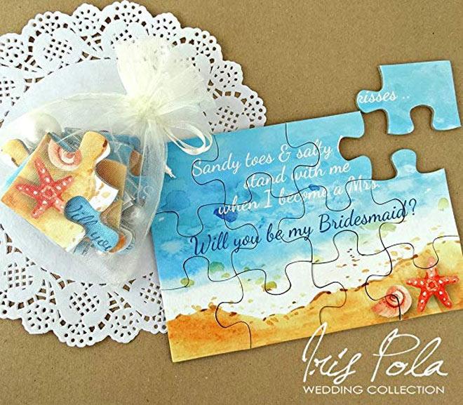 Bridesmaid Proposal Puzzle - Nautical Watercolour