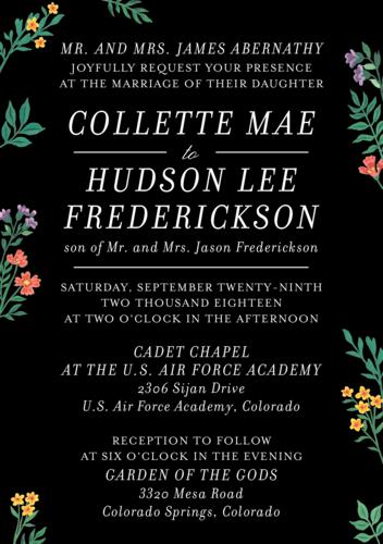 Midnight Meadow Wedding Invitation via Paper Source