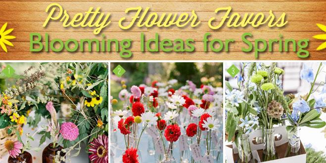Blooming Spring Flower Favors