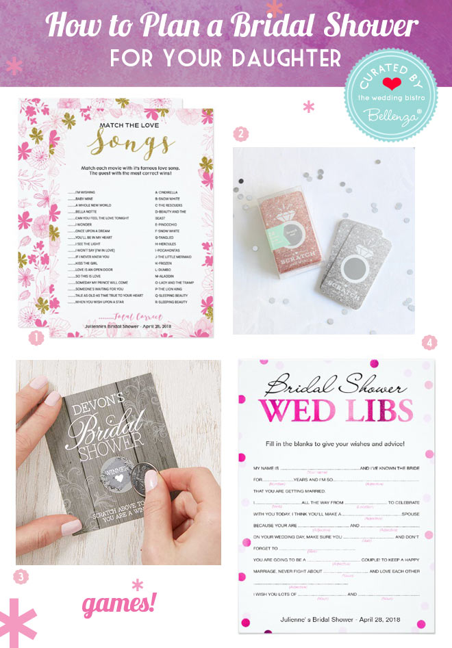 Scratch cards and songs for bridal-shower games