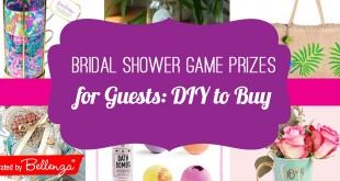 Bridal Shower Game Prizes for Guests from Cosmetics to Mugs