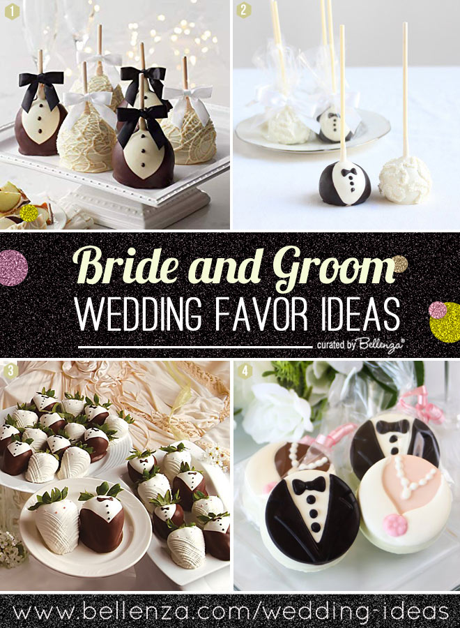 Sweet Favors with a Bride and Groom Theme