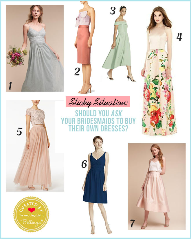 Is it okay to request your bridesmaids to choose and pay for their own dresses?