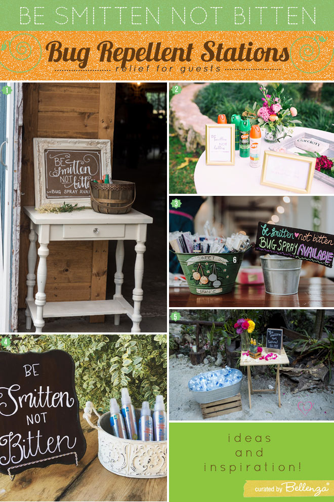 Bug relief wedding stations for summer